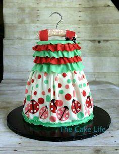 Ladybug dressing cake