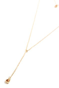 Gold and Champagne Necklace - Layered Necklace - Drop Necklace - $13.00