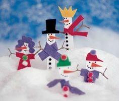 Snow Stick people xmas