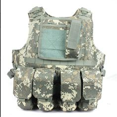 68.44$  Buy now - http://aliclm.worldwells.pw/go.php?t=1404991963 - Free Shipping  Combat Molle Amphibians  design military Tactical vest ACU Color WIRE-STEEL-IN