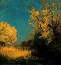 apoetreflects:  Painting: Odilon Redon, Peyrelebade Landscape, 1880