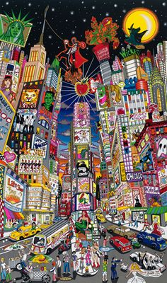 3D pop art from Charles Fazzino - Now playing on broadway
