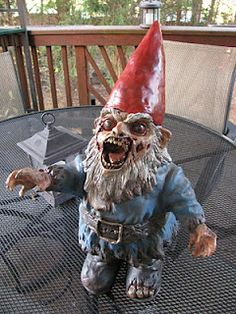zombie gnome!  yeah, it's dumb.  it made me actually laugh out loud, though, so.