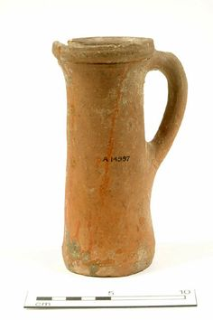 Drinking jug Production Date: Medieval; London Free Museums, English Pottery, Medieval Life, Ceramic Cups, 14th Century, Ancient Romans, Earthenware, Household Items, Middle Ages