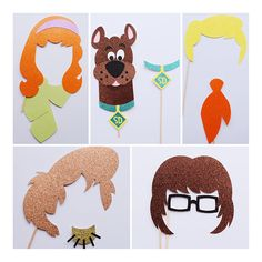 Scooby Doo Photo Booth Props Scooby Doo Birthday Party
