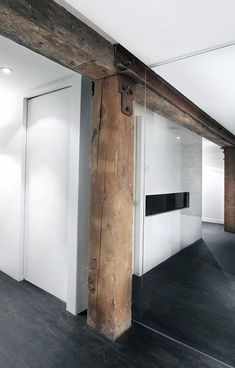 Wooden beams| white| Black| loft style| modern|
