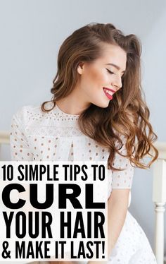 Whether you have long hair, medium hair, shoulder-length hair, or short hair, prefer curling your hair with a flat iron, with a wand, or with a standard curling iron, these tips will teach you how to curl your hair and make it stay. The bobby pin trick has been a big game-changer for me and is the secret to getting my hair to hold a curl - you have to give it a try!