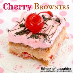 Canucks Rock Social Media link up & Blogger Feature- Echos of Laughter - Tales of a Ranting Ginger cherry brownies