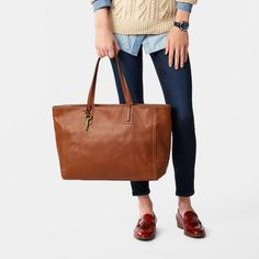 910e0beb7b4 Emma Work Tote Work Tote, Work Bags, Brown Leather Handbags, Leather Bag,
