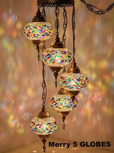 DEMMEX Turkish Moroccan Mosaic Hardwired OR Swag Wall Plug in Chandelier Light Ceiling Hanging Lamp Pendant Fixture X Globes - Swag) Gold Floor Lamp, Cool Floor Lamps, Globe Ceiling Light, Ceiling Lights, Lamp Light, Bohemian Lamp, Bohemian Style, Bohemian House, Boho Room