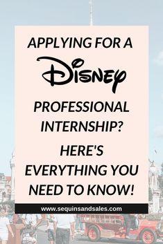 Disney Internship, Internship Resume, College Packing Tips, Disney College Program, Interview Process, Career Exploration, Phone Interviews, Disney Cast, Disney Diy