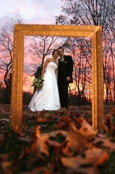 Creative idea for a fall wedding at sunset