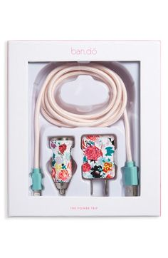 Free shipping and returns on BAN.DO 'Power Trip' Floral Print iPhone 5, 5s, 6 & 6 Plus Charging Kit at Nordstrom.com. Swap out your boring white cords for thisplayful, posy-decked set, which includes a charging cable (coated in nylon thread for a more durable finish), a wall plug and a car charging port for on-the-go power.