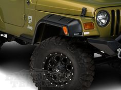 Lund Fender Flares RX- Rivet Style 4PC (97-06 Wrangler TJ) Crafted to fit larger tires and wheels, Lund RX- Rivet Style Fender Flares give your TJ a bold and powerful look, while providing protection. They shield your vehicle against damage from road debris and rocks, perfect for on or off road use.These fender flares are made of Tri-Flex ABS thermoplastic with a textured finish & stainless steel bolts. Paintable UV-resistant surface. Designed for use on 1997-2006 Jeep Wrangler TJ models.
