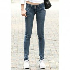 $9.40 Street Style Slim Fit Spring Clothing Denim Jeans For Women