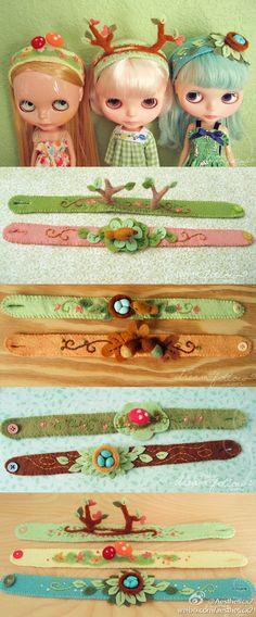 blythe - dolls - pullip - headband DIY