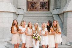 bridesmaid photos salt lake temple by Brooke Schultz http://brookeschultzphotography.com