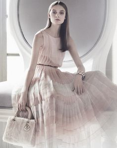 Nimue Smit for the Dior, An Exceptional Christmas 2012 ad campaign