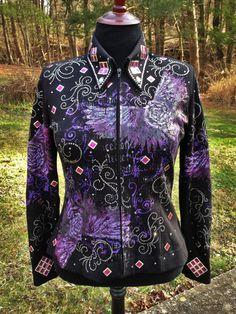 Black & Purple Rocker Jacket – The Bling Boutique