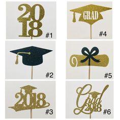 Graduación centro de mesa palillos 2018 fiesta de graduación | Etsy