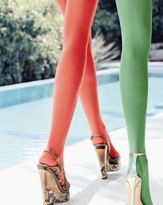 kunert opaque 40 den colored tights - Collants Opaques Colors