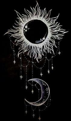 Beautiful Tattoo Sun Moon Tattoo Sun Tattoo Sun Drawing The Moon Piercing Tattoo, Piercings, Tattoo Mond, Sf Wallpaper, Wiccan Wallpaper, Phone Wallpaper Boho, Hippie Wallpaper, Bild Tattoos, My Sun And Stars