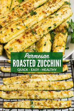 Parmesan Roasted Zucchini, Roasted Zucchini And Squash, Roasted Zucchini Recipes, Oven Roasted Zucchini, Zucchini In The Oven, Bake Zucchini, Baked Zucchini Sticks, Zucchini Lasagna, Zucchini Boats