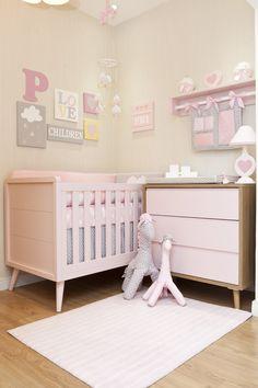 Puro Amor - Móveis, Decoração e Enxoval. Tudo para a decoração do quarto do seu bebê Baby Bedroom, Baby Room Decor, Nursery Room, Girls Bedroom, Baby Room Design, Kids Furniture, Girl Room, Toddler Bed, Decoration