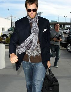 Great example of suit coat and jeans done right.