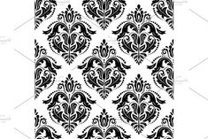 Oriental vector pattern with damask, arabesque and floral elements. Damask Patterns, Light Design, Arabesque, Vector Pattern, Abstract Backgrounds, Oriental, Floral, Women, Flowers