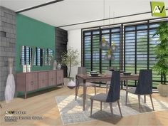 The Sims Resource: Gravity Dining Room by ArtVitalex • Sims 4 Downloads