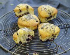 Sunne blåbærmuffins uten sukker - Tara