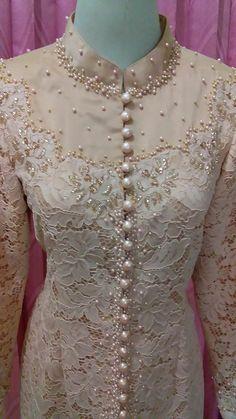 Kebaya Modern Dress, Kebaya Dress, Model Kebaya, Kebaya Muslim, Brokat, Embroidery, Beads, Sewing, Outfits