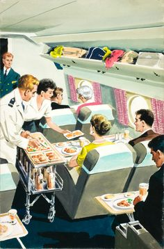 Mindeemelillo saved to Vintage Illustrations and Other Mediums Jack Matthew: Flight Two: Canada, 1959 © Ladybird Books Ltd Vintage Advertisements, Vintage Ads, Vintage Images, Gravure Illustration, Estilo Pin Up, Buch Design, Ladybird Books, Retro Poster, Arte Pop