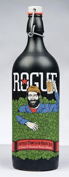 Brew 15,000 - Rogue Ales, qué etiqueta más linda, weón <3