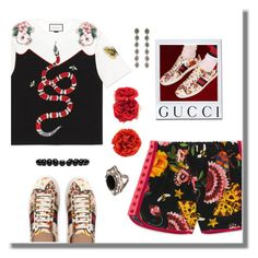 """""""Because Gucci"""" by adduncan ❤ liked on Polyvore featuring Gucci, floral and gucci"""