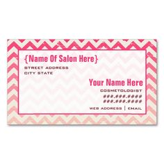 1120 best cosmetologist business cards images on pinterest ombre zigzag cosmetologist salon appointment business card colourmoves