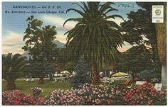 San Luis Obispo County, Boston Public Library, Vintage Postcards, Entrance, California, Painting, Vintage Travel Postcards, Entryway, The California