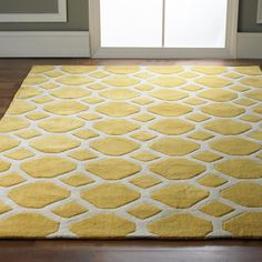 Honeycomb Carved Soft Rug - Shades of Light
