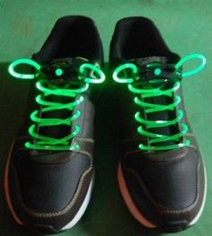 Green LED Shoelaces! $6.66 #geek