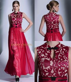 Captivating Chinese-inspired ruby dress