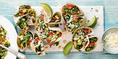 These flank-steak soft tacos are so tasty and easy, they should be in everyone's repertoire. Plus they're made with fresh corn tortillas (not fried) and topped with a quick homemade salsa made with avocado, tomato, onion and a bright squeeze of lime. Bbq Corn, Corn Salsa, Gourmet Recipes, Mexican Food Recipes, Ethnic Recipes, Mexican Dishes, Drink Recipes, Keto Recipes, Vegetarian Recipes