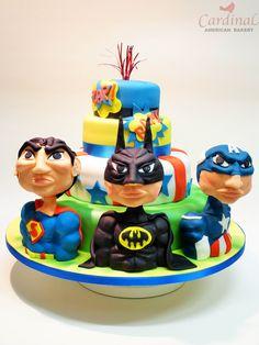 Super heroe first comunion cake