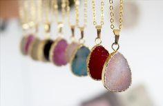 Drusen DruzyDream Halskette mit Achat    DruzyDream - Traum in Farbe!  Drusen reizend Halskette mit Achat - einen Stein mit winzigen , in der Sonne glitzern Kristalle .  Einzigartig!  ...