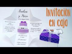 paso a paso caja de invitación de matrimonio/como hacer una caja de invitación de matrimonio. - YouTube