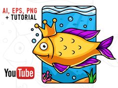 Free Vector Fish Illustration and Video Tutorial