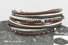 VARIO Armband Wickelarmband braun von MK-Kreativschmuck auf http://de.dawanda.com/shop/MK-Kreativschmuck/3340939-Armbaender