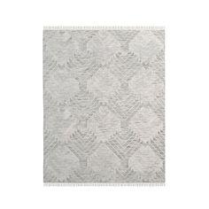 Diamond Steps Wool Dhurrie - Platinum #westelm