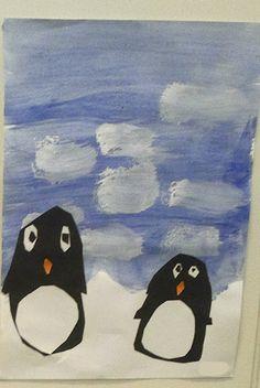 Askartelun riemua kotona ja koulussa: Hellyyttävät pingviinit Diy And Crafts, Crafts For Kids, Teaching Art, Panda, Painting, Crafts For Children, Kids Arts And Crafts, Painting Art, Paintings