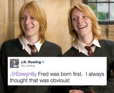 19 Extremely Important Things J.K. Rowling Taught Us About Harry Potter after the series was finished. And #19 made me cry. <3 <3 <3